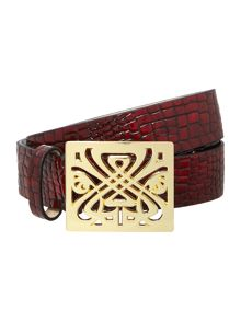 Biba Shena natural leather trouser belt