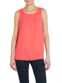 Sleeveless contrast lining blouse