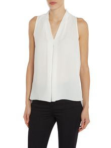 Vince Camuto Sleeveless pin dot blouse