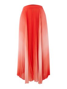 Vince Camuto Pleated ombre maxi skirt