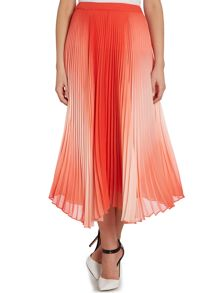 Pleated ombre maxi skirt