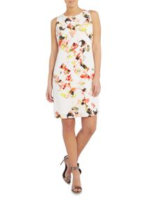 Vince Camuto Sleeveless floral photo print shift dress