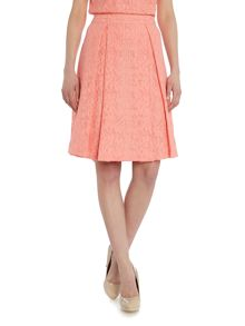 Vince Camuto Aline textured floral print skirt