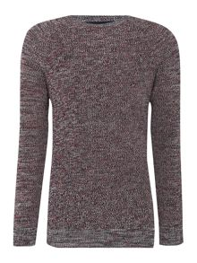 Linea Argyll Three Colour Ribbed Crew