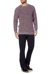 Argyll Three Colour Ribbed Crew