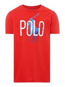 Polo Ralph Lauren Boys ombre graphic pony polo