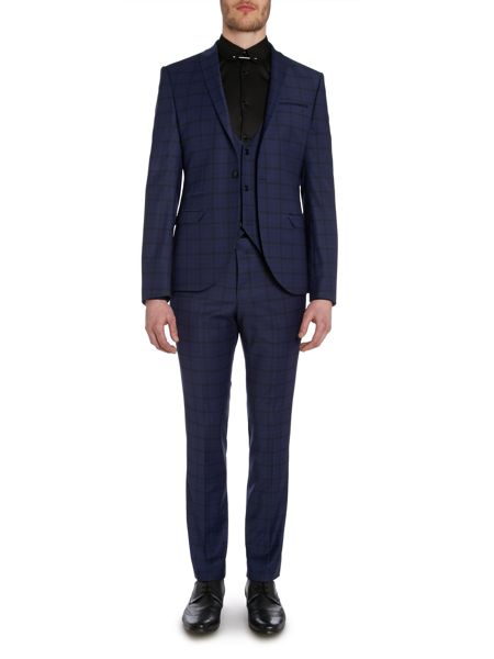 Label Lab Maxwell Plain Peak Collar Extra Slim Suit Jacket