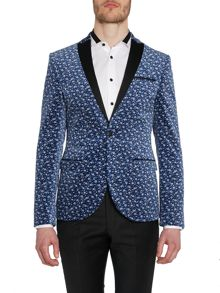 Cox Floral Blazer With Contrast Peak Lapel