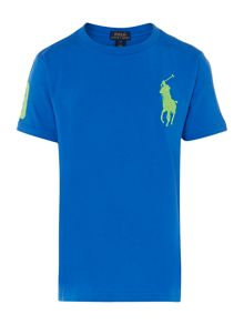 Boys Big Pony Player Tshirt With Pique 3 Graphic
