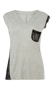 lace pocket tshirt