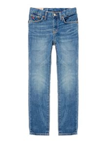 Boys Mid Wash Slim Leg Denim Jean