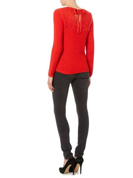 Therapy Fluffy tie back jumper