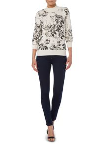 Therapy Silhouette floral print jumper