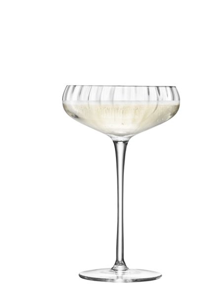 LSA Aurelia Champagne Saucer 300ml Clear Optic x 4