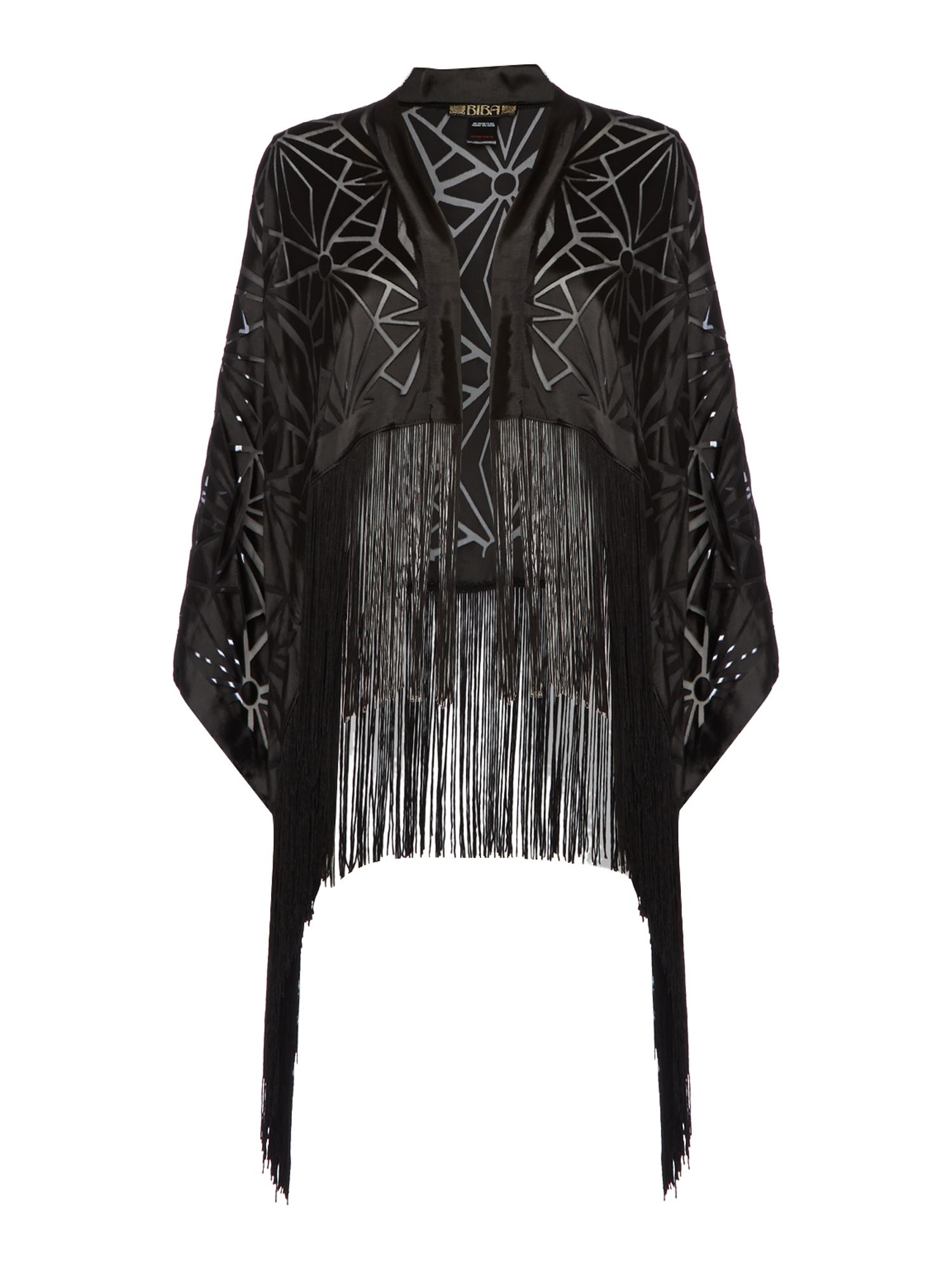 Biba Deco Burnout Kimono Black £53.40 AT vintagedancer.com
