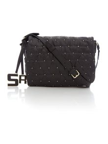 Black stud crossbody