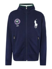 Polo Ralph Lauren Boys Wimbledon Ball Boy Zip Thru Sweat
