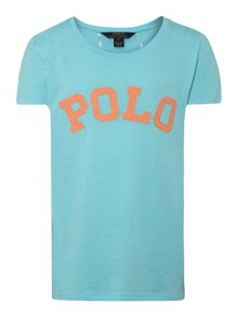 Girls applique polo