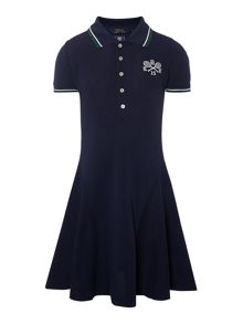 Polo Ralph Lauren Girls wimbledon flippy hem polo dress