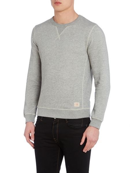 Jack & Jones Mens long sleeve marl crew sweat