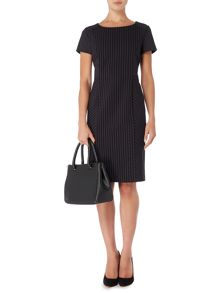 Tailored pinstripe dress