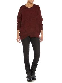 Slouch exposed seam detail jumper