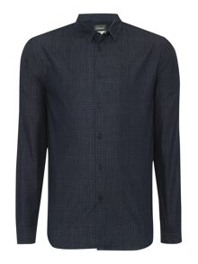 Linea Linea Owen Long Sleeve Grid Print Shirt