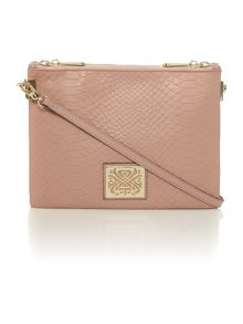 Charlie double zip crossbody handbag