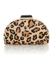 Domed hardbox clutch bag