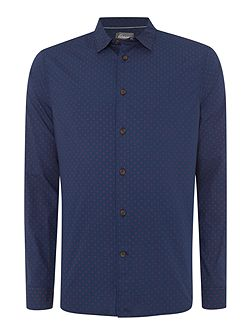 Linea Walker Long Sleeve Geo Print Shirt