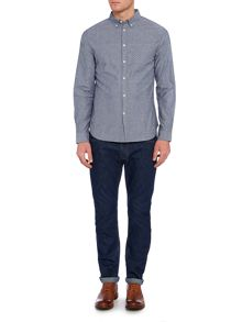 Linea Linea Elliot Long Sleeve Polka Dot Chambray Shirt