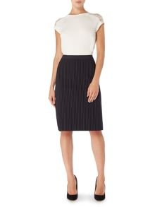 Tailored pinstripe skirt