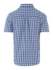 Boys gingham belan short sleeved shirt