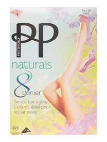 Pretty Polly 8 denier sandal toe tights