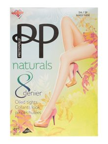 Pretty Polly 8 denier oiled tights