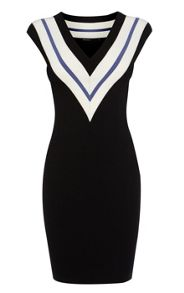 Sporty V Neck Bandage Dress