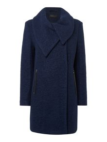 Wrap Asymemetric Heavy Wool Coat