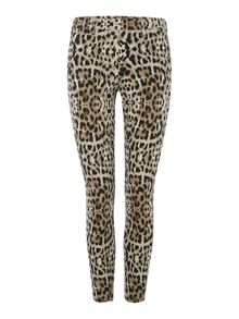 Hue Original denim leo print leggings