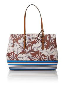 Rita multi coloured large tote bag