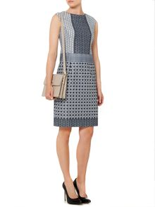 Linea Geo print shift dress