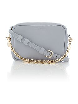 Pale blue crossbody bag