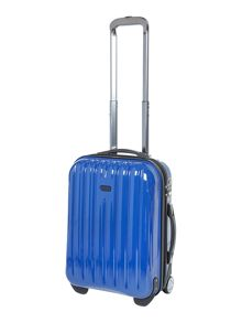 Titanium blue 2 wheel hard cabin suitcase