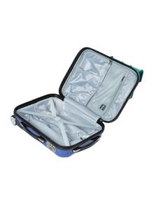 Titanium blue 2 wheel hard cabin case