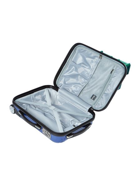 Linea Titanium blue 2 wheel hard cabin suitcase