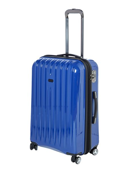 Linea Titanium blue 8 wheel hard medium case