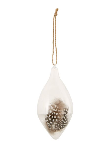 Linea Glass decoration with feathers