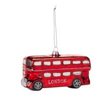 Glass red London bus decoration