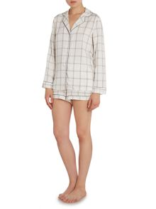 Grid Check Shorts PJ Set