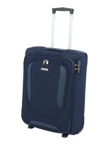 Arnavon blue 2 wheel soft cabin suitcase