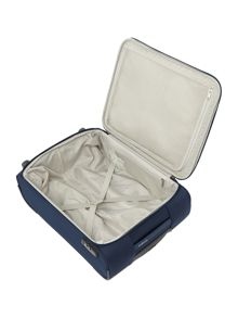 Samsonite Arnavon blue 2 wheel soft cabin suitcase
